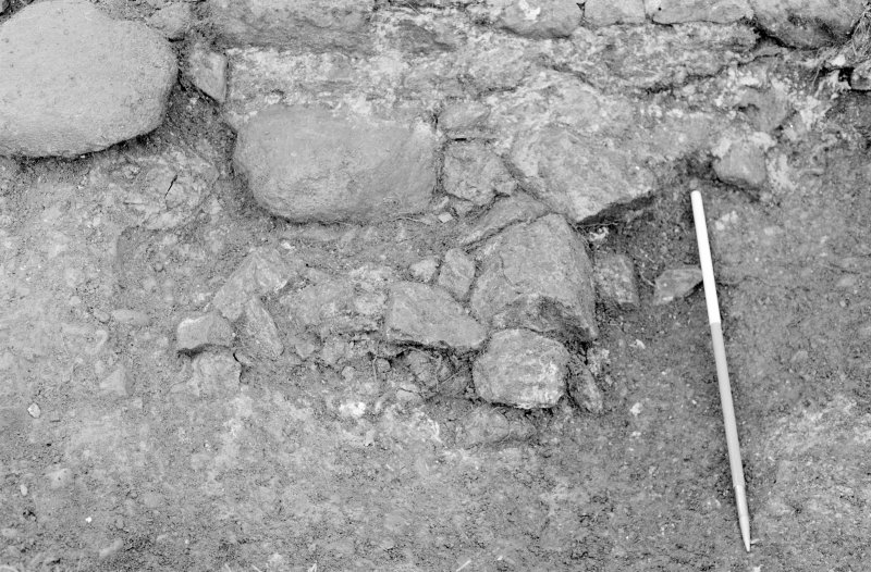 Inverlochy Castle Frame 26 - Wall foundations F712; from north