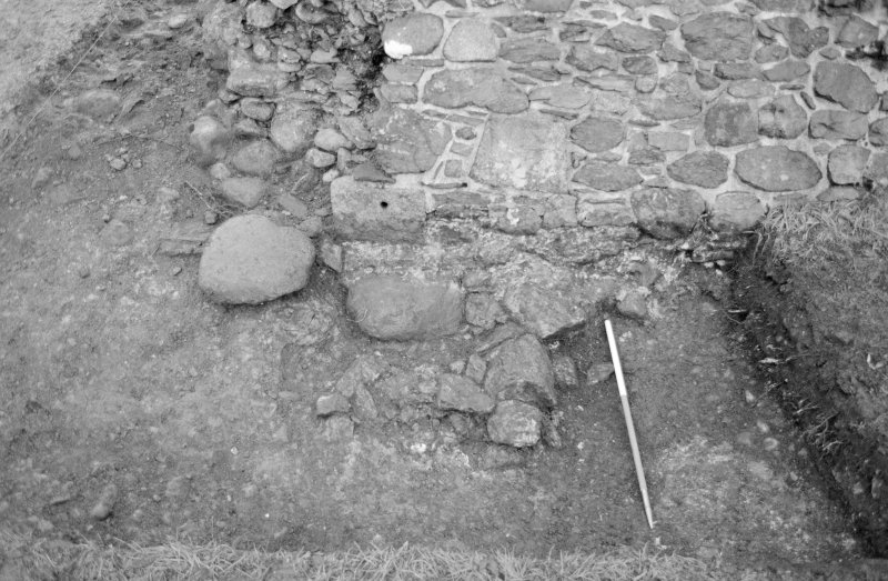 Inverlochy Castle Frame 27 - Foundations F712 below gateway; from north