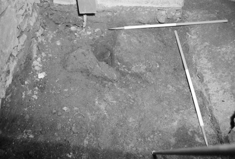 Newark Castle Frame 10 - Inside castle entrance after removal of modern stone flags