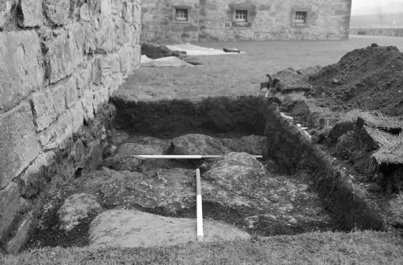 Newark Castle Frame 12 - Trench AA - from west