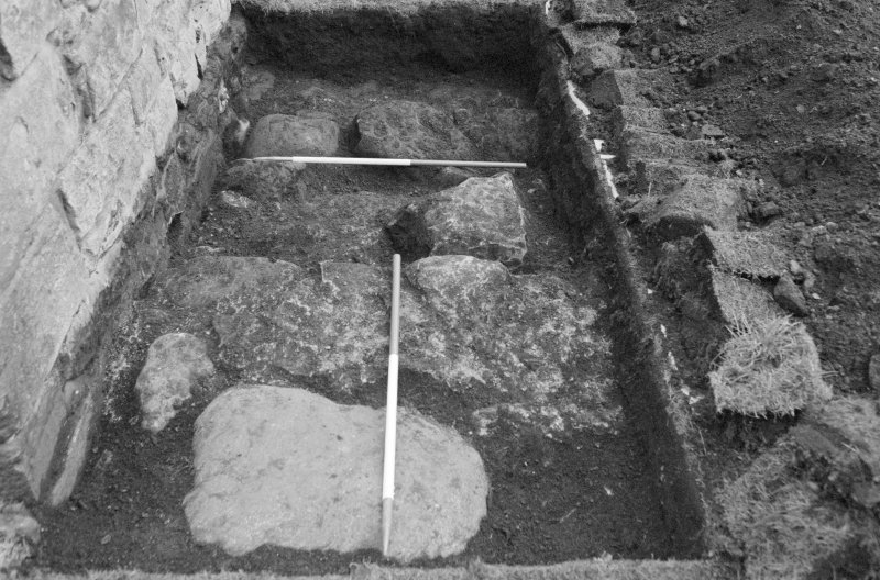 Newark Castle Frame 13 - Close-up of Trench AA - from west