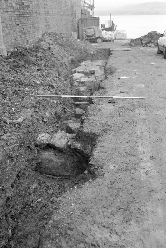 Newark Castle Frame 25 - Final shot of Trench L - from south