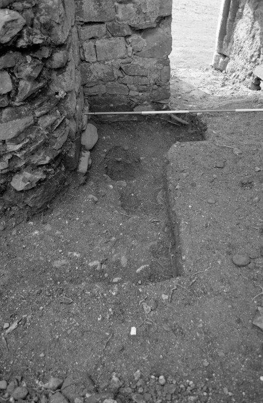 Rossdhu Castle Excavations, June and August/September 1996 Frame 35 - West arm of Trench 20 - from north