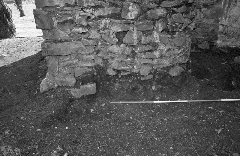 Rossdhu Castle Excavations, June and August/September 1996 Frame 18 - Trench 20: north end of east wall - from west