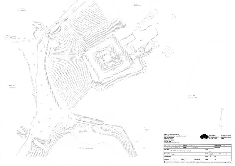 Site plan of Sir John De Graham's Castle.