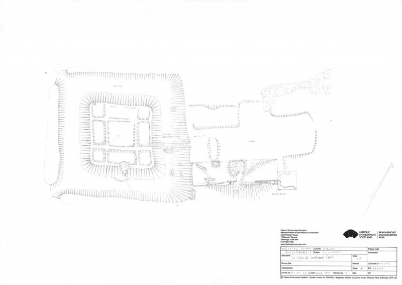 Plan of Sir John De Graham's Castle.