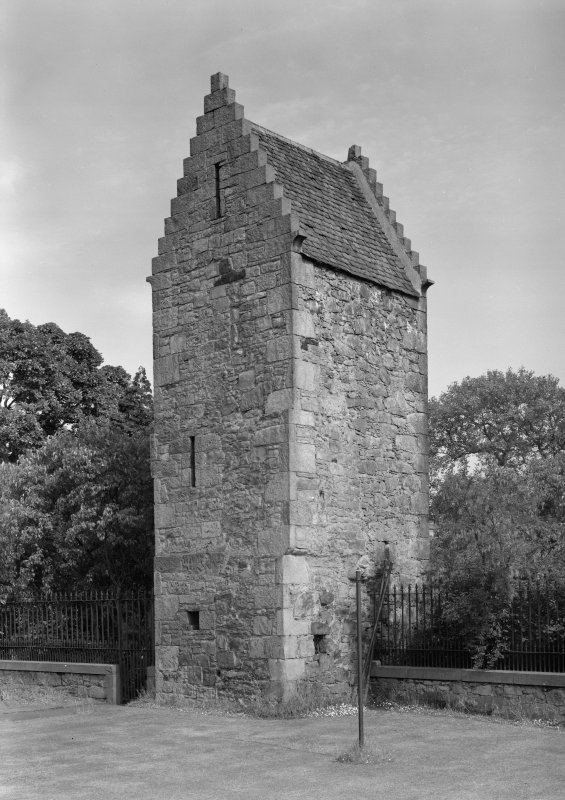 View of the old stair tower of old Ravelston House, Edinburgh, from NW.