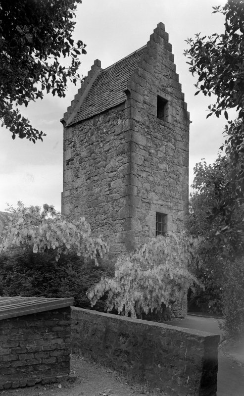 View of the old stair tower of old Ravelston House, Edinburgh, from SW.