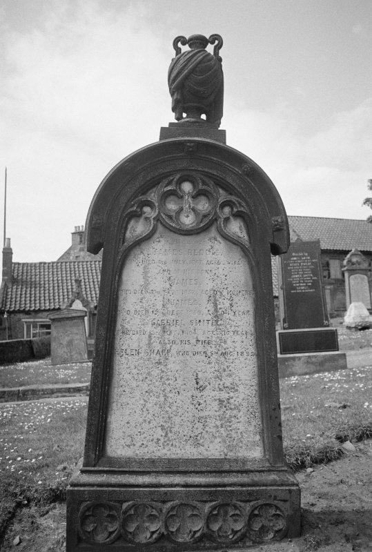 View of cast-iron monument to James Reddie dated 1867, in St Adrian's Parish Church, Anstruther Easter.