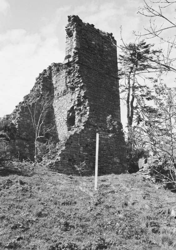 View of the remains of Cockburnspath Tower from S