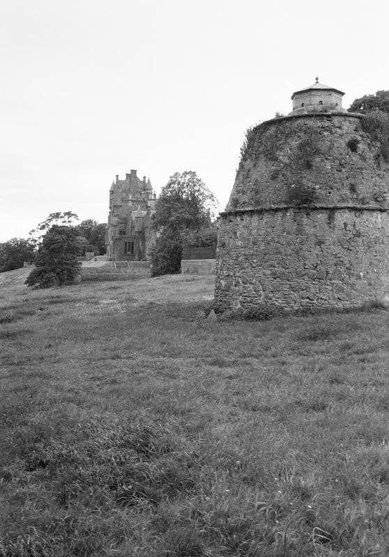 View of Ayton Castle and dovecot from NE.