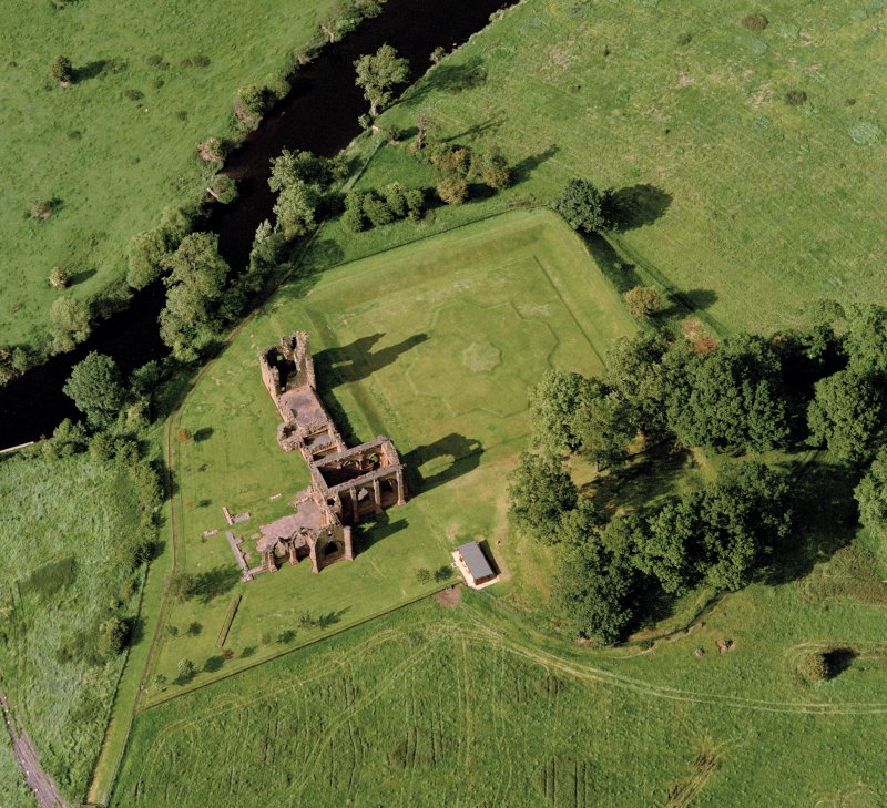 Oblique aerial view centred on Lincluden College.