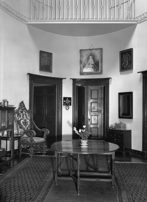 Interior view of Aldbar Castle showing oval saloon.