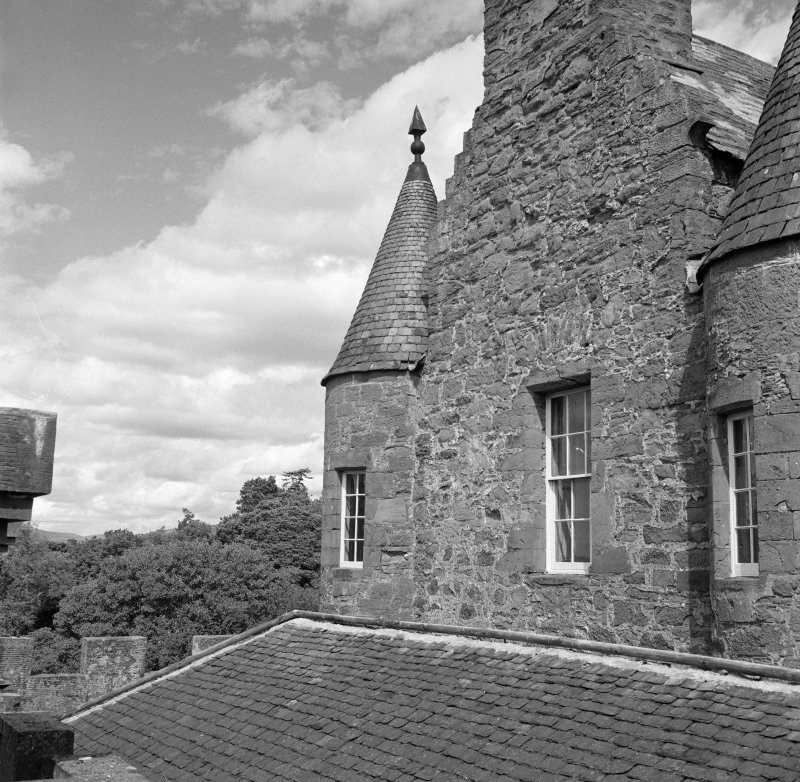View of rooftops, Aldbar Castle.