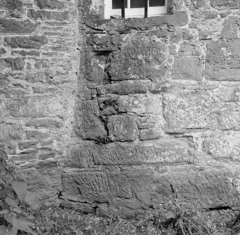 Detail of stonework, Aldbar Castle.
