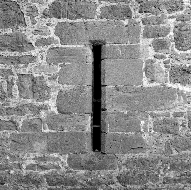 Detail of arrowslit, Aldbar Castle.