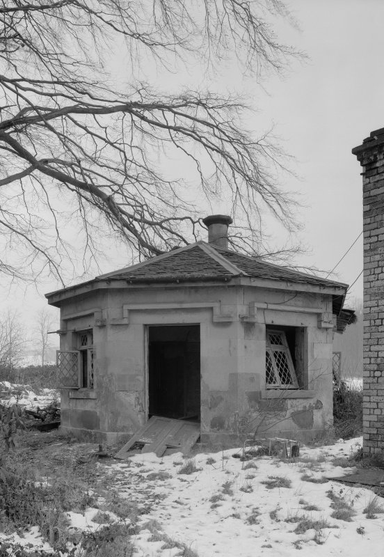 View of game larder of ice house, Fordell House.