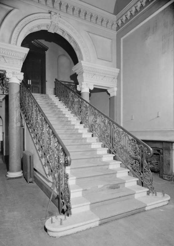 Interior view of Fordell House showing principal staircase.