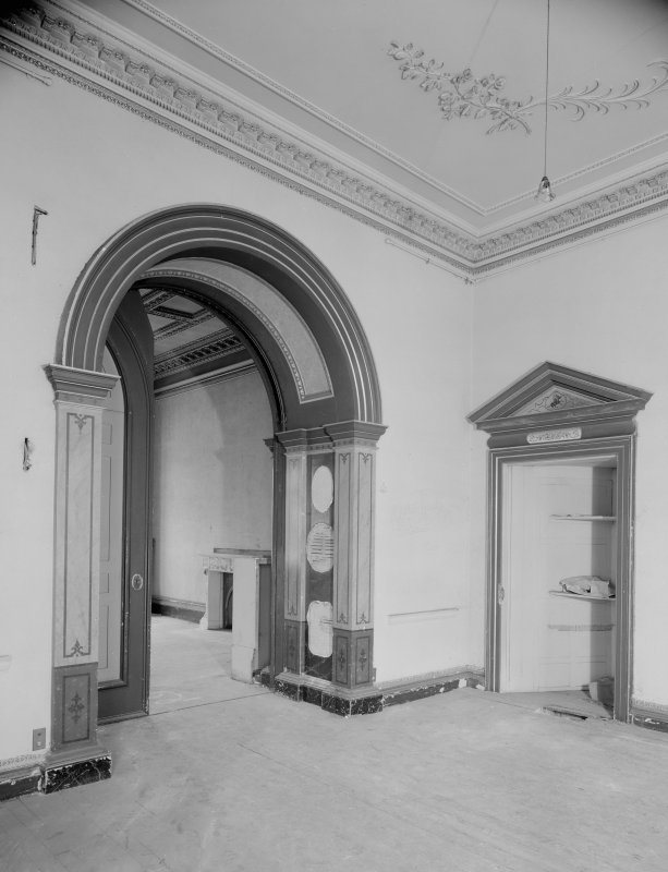 Interior view of Fordell House showing drawing room on first floor.