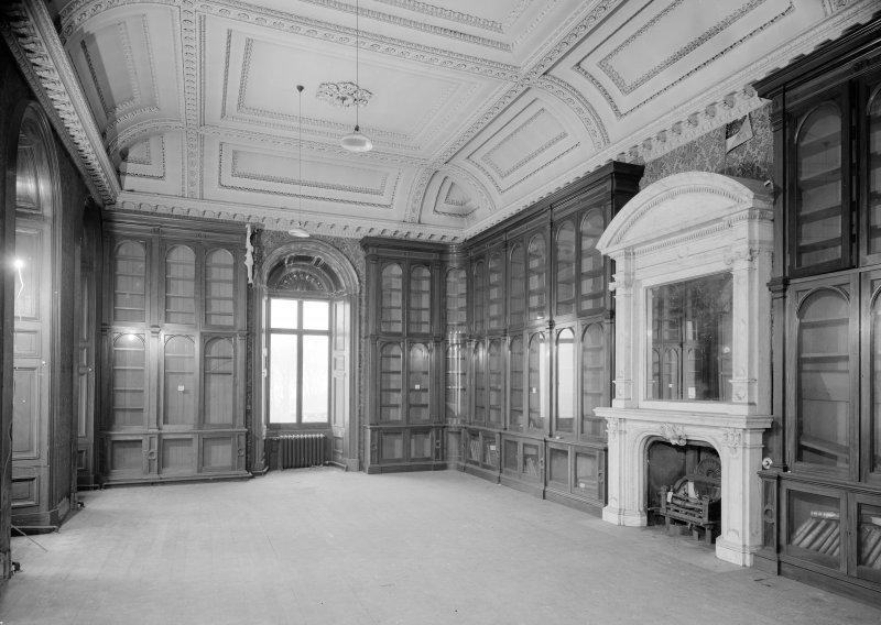 Interior view of Fordell House showing the library.