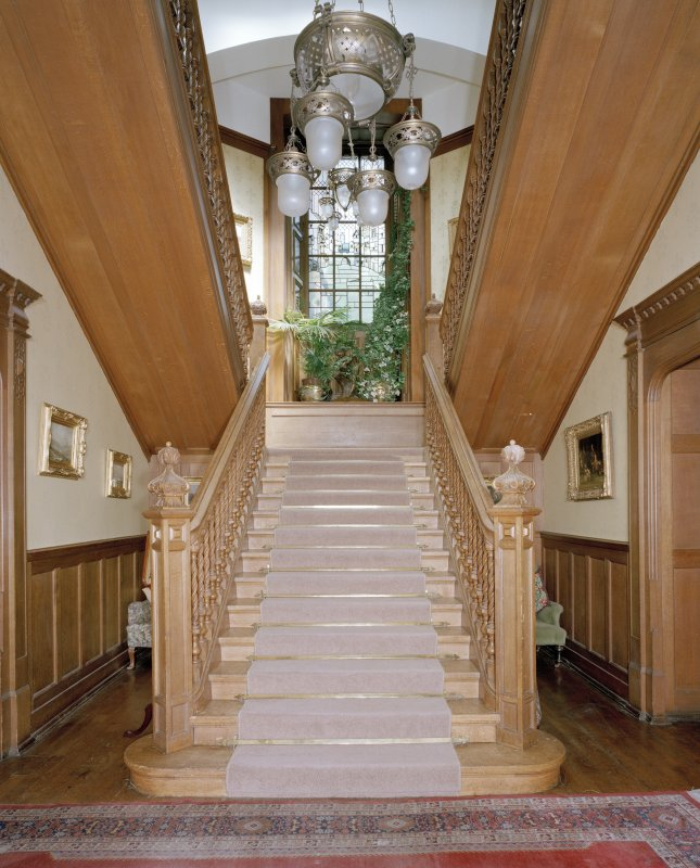 View of main staircase from South