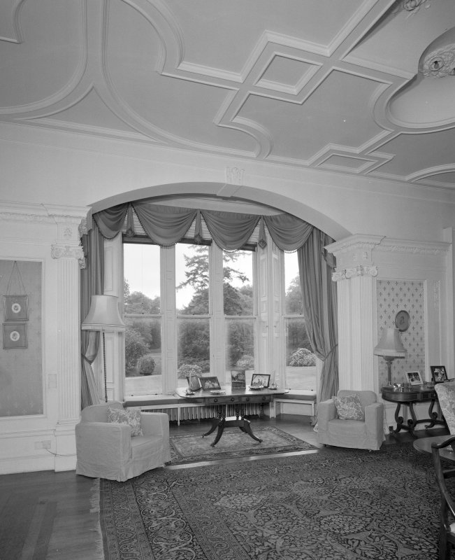 Drawing room detail of bay window