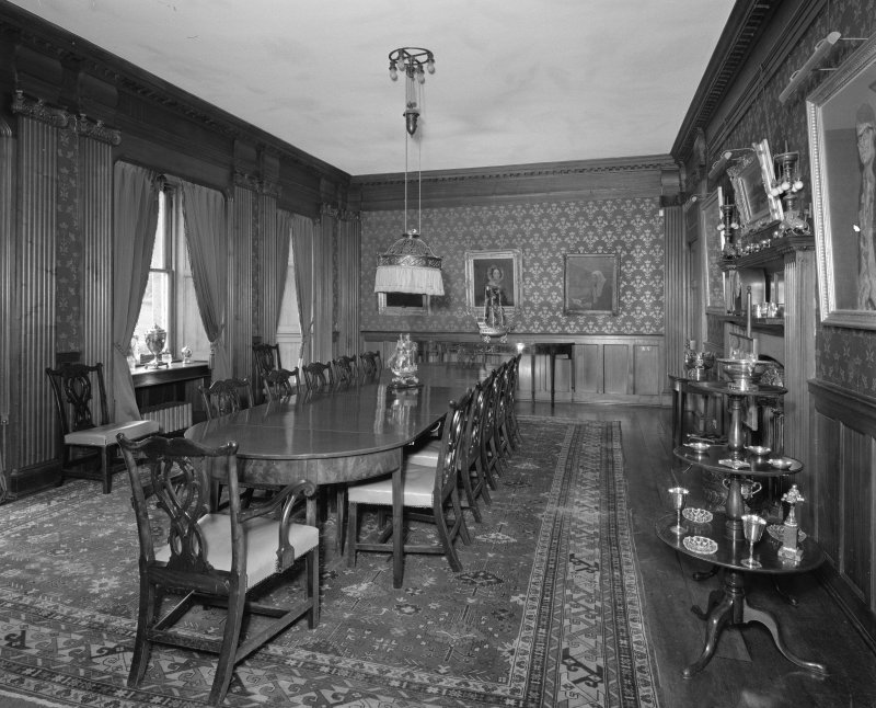 View of dining room from North