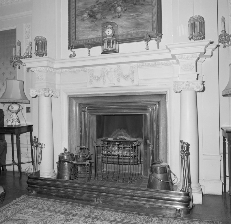Drawing room, detail of fireplace