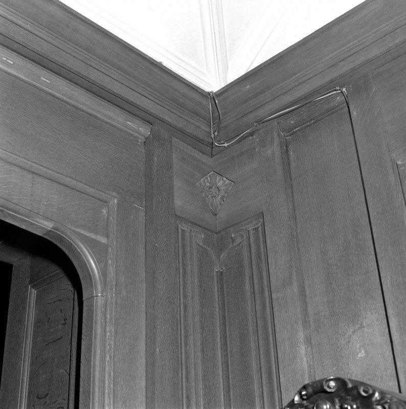 Entrance hall detail of panneling