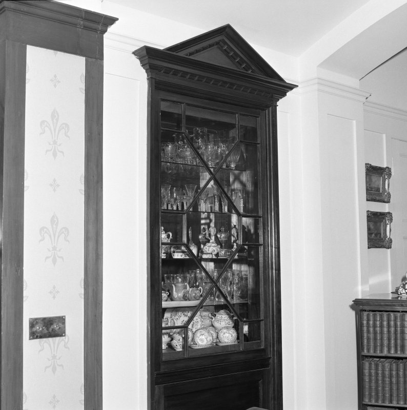 Stair landing, detail of china cabinet