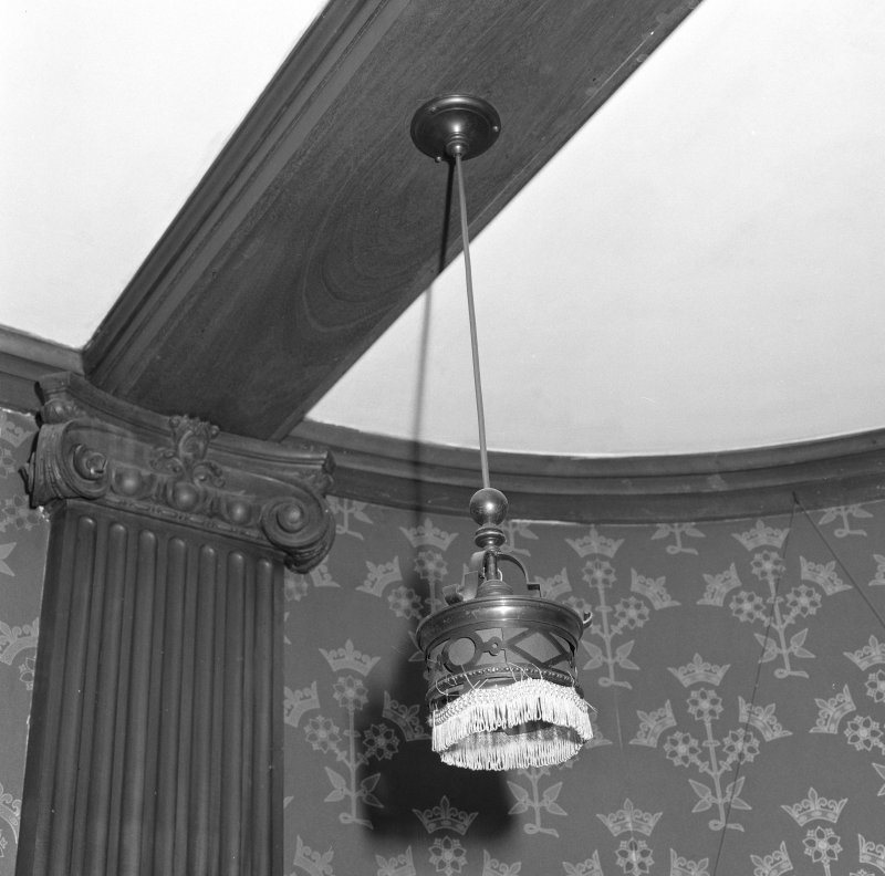 Dining room, detail of electric light fitting