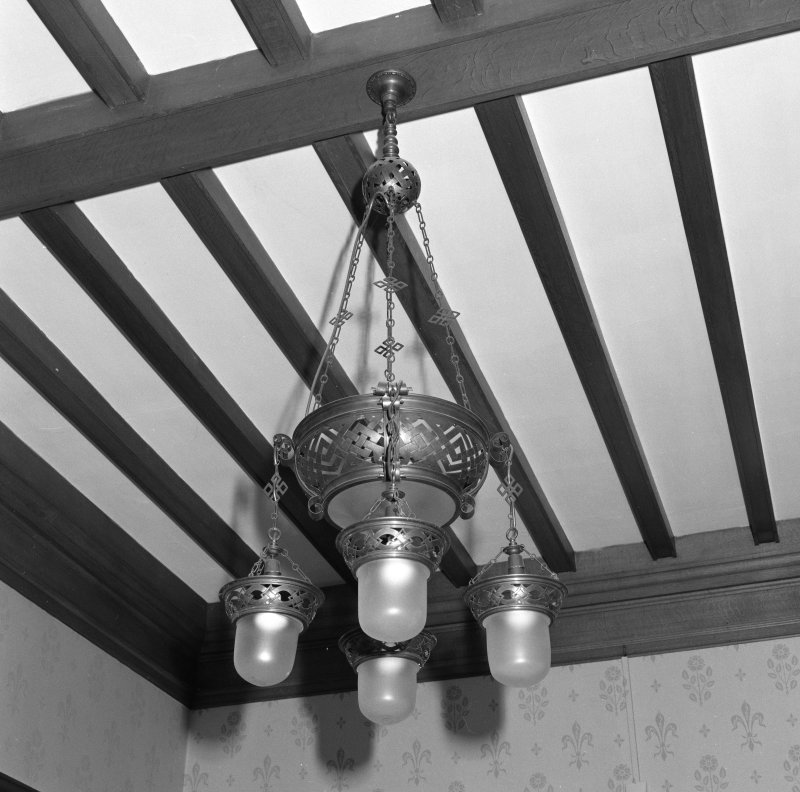 Hall, detail of electric light fitting