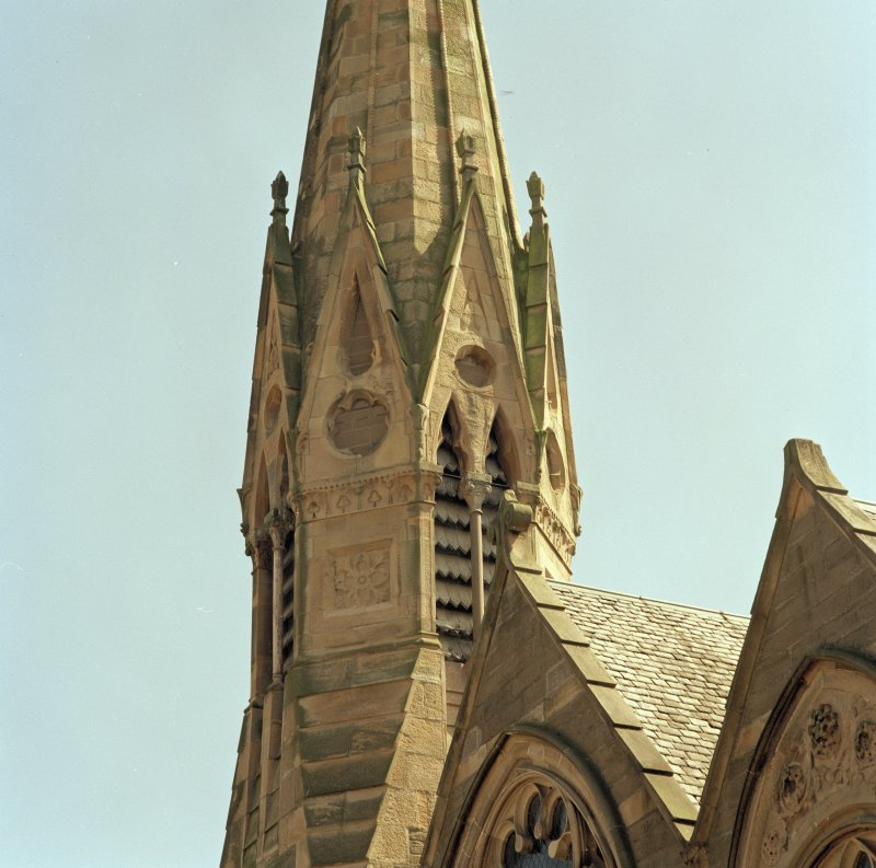 Detail of part of the spire.