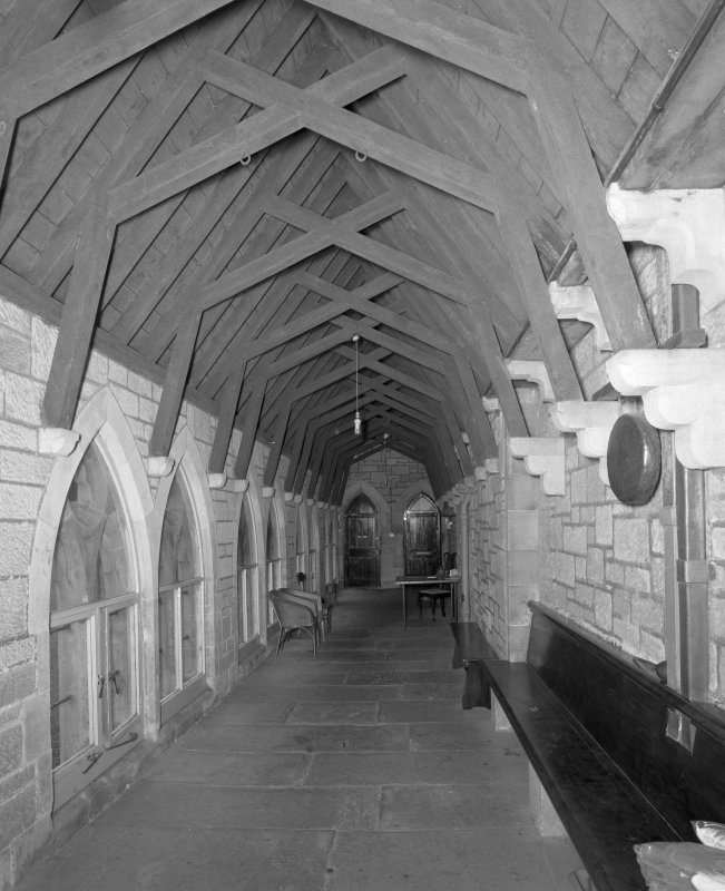 Interior.  View of Cloisters