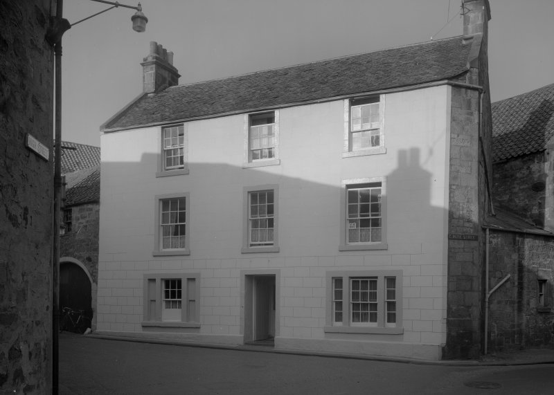 View of front elevation, Belmont House, Cunzie Street, Anstruther Easter.