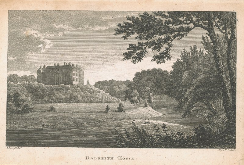 Engraving of Dalkeith House