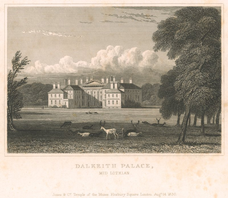 Engraving of Dalkeith House.
