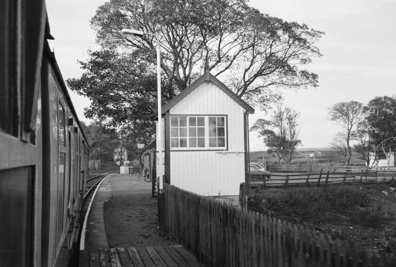 View of Forsinard Station platform and east signal box.
