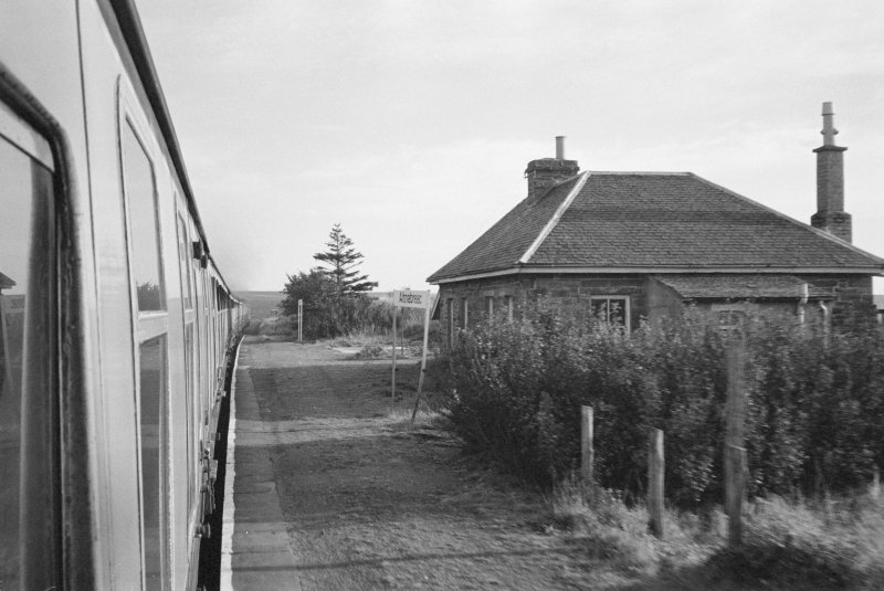 View of Altnabreac Station platform and building