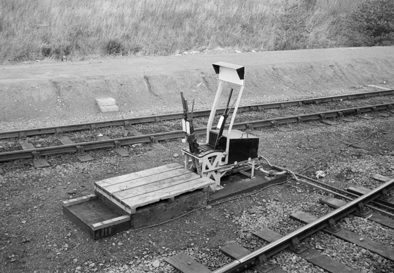 View of point lever mechanism at Geogemas Junction Station.