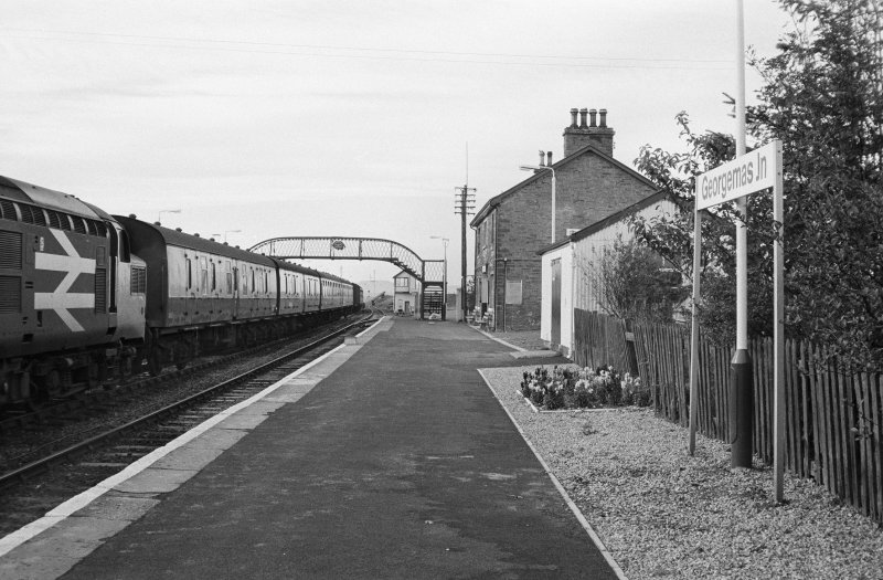 View of Georgemas Junction Station, with footbridge.
