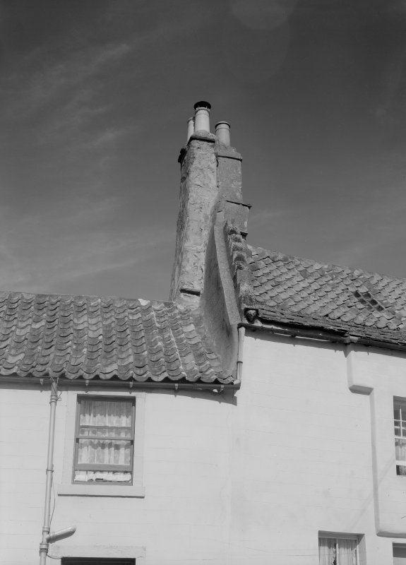 Detail of chimney and roof of house in Haddfoot Wynd, Anstruther Easter.