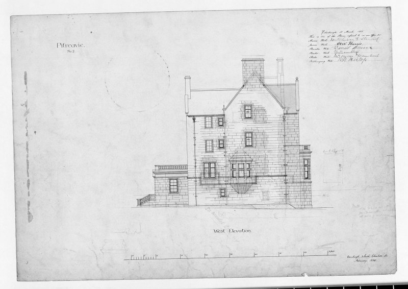 Photographic copy of west elevation.