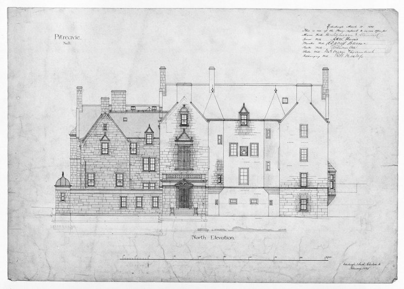 Photographic copy of north elevations.