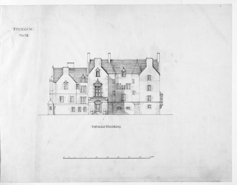 Alternative preliminary sketch designs. Photographic copy of Entrance elevation.