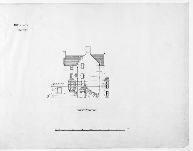 Alternative preliminary sketch designs. Photographic copy of West elevation.