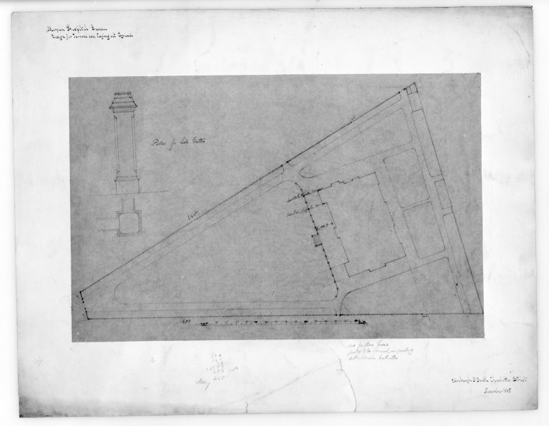 Photographic copy of plan and details of terrace.