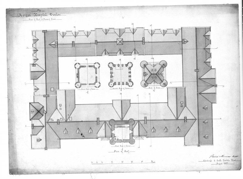 Photographic copy of plans.