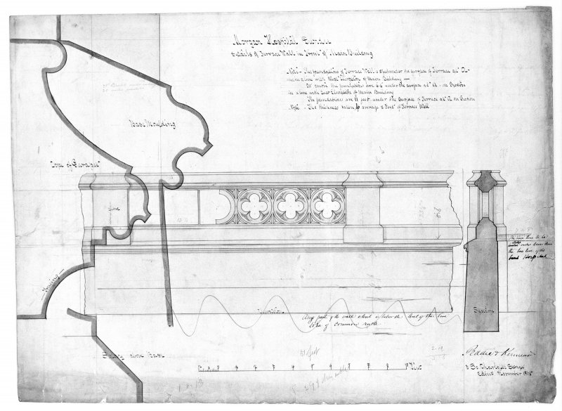 Photographic copy of details of terrace.