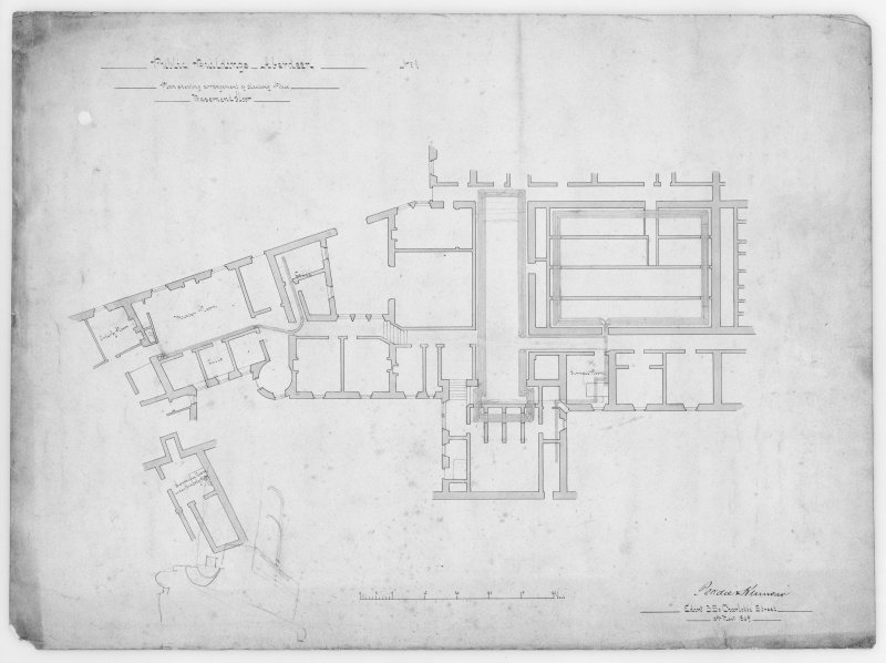 Photographic copy of plans showing arrangement of heating pipes.